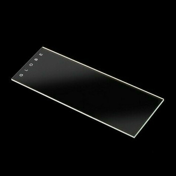 Globe Scientific Microscope Slides 45° Beveled Edges, Clipped  Corners, Frosted Glass - 25 x 75 mm