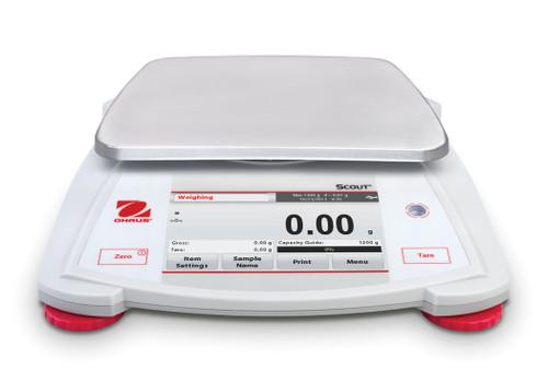 OHAUS STX1202 Scout STX Touchscreen Portable Balance 1200 g x 0.01 g