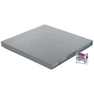 OHAUS VX32XW5000X Floor Scale Package, 5000 x 1 lb, 5' x 5'