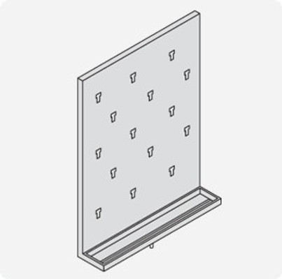 Stainless Steel Lab Pegboard Drying Rack 18x24