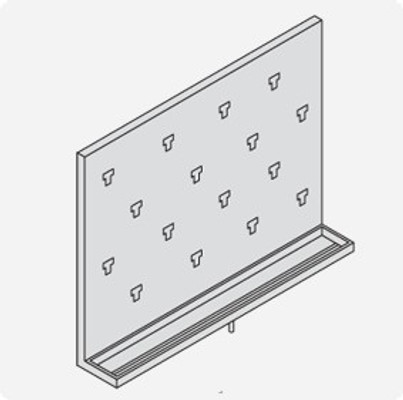 Stainless Steel Lab Pegboard Drying Rack Pegboard 24 x 18