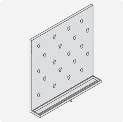 Stainless Steel Lab Pegboard Drying Rack 24 x 24