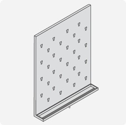 Stainless Steel Lab Pegboard Drying Rack 24 x 30