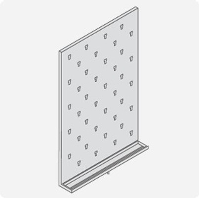 Stainless Steel Lab Pegboard Drying Rack 24 x 36