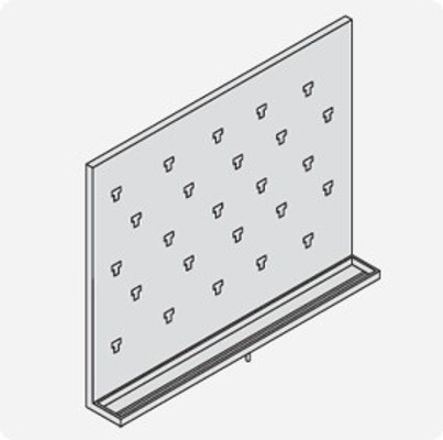 Stainless Steel Lab Pegboard Drying Rack 30 x 24