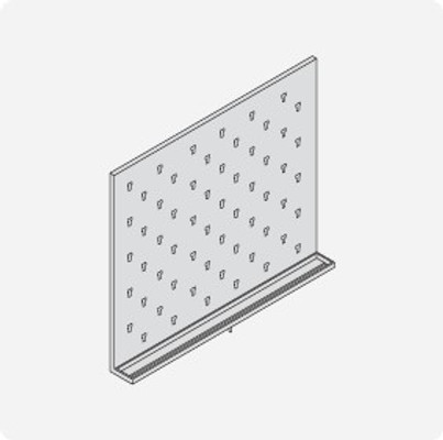 Stainless Steel Lab Pegboard Drying Rack 30 x 36
