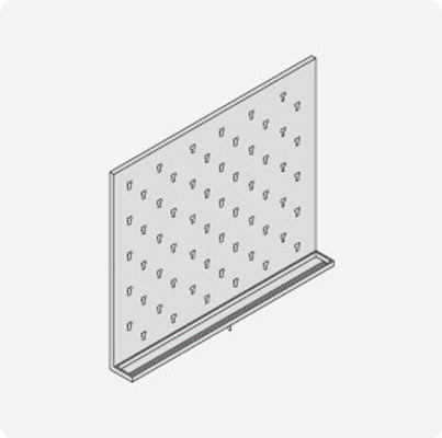 Stainless Steel Lab Pegboard Drying Rack 36 x 30