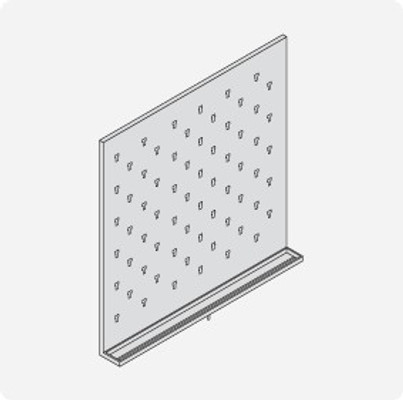 Stainless Steel Lab Pegboard Drying Rack 36 x 36