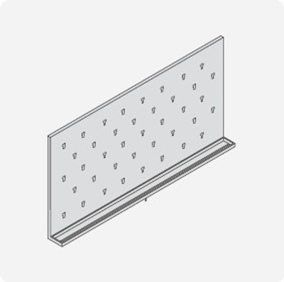 Stainless Steel Lab Pegboard Drying Rack 48 x 24