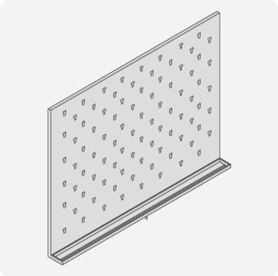 Stainless Steel Lab Pegboard Drying Rack 48 x 36