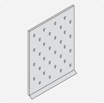 Basic Stainless Steel Lab Pegboard Drying Rack 24 x 30