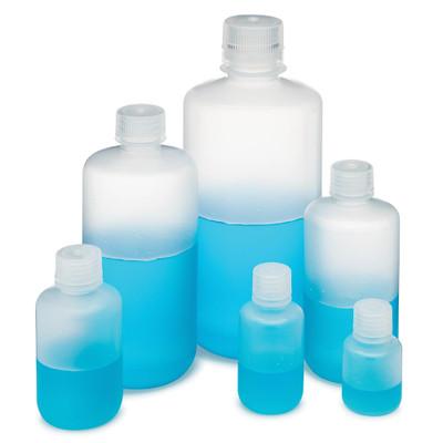 Globe Scientific Diamond RealSeal HDPE Narrow Mouth Round Bottles