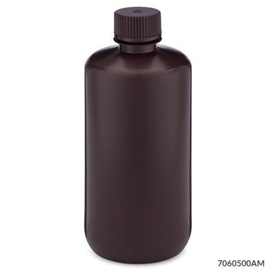 Globe Scientific 7060500am Amber Narrow Mouth Round Bottles