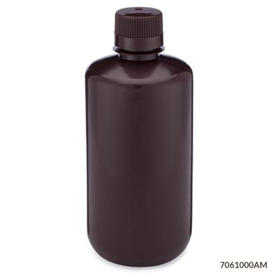 Globe Scientific 7061000am Amber Narrow Mouth Round Bottles