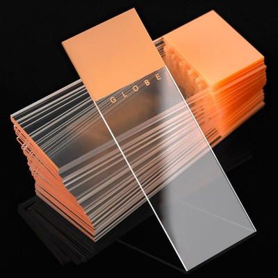 90° Ground Edge Color Coded Microscope Slides - 25 x 75mm