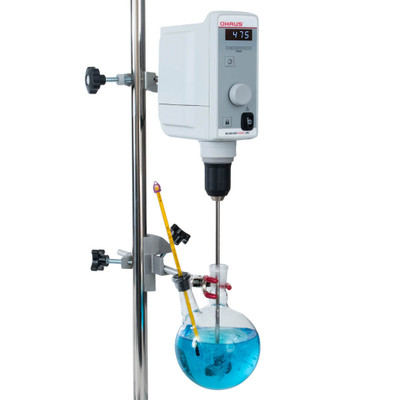 achiever 5000 overhead stirrer with stand and vessel