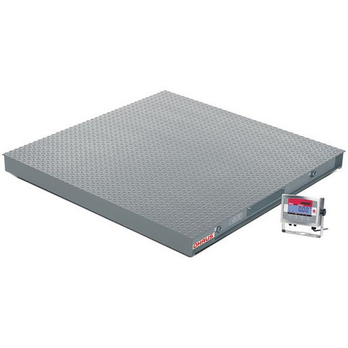 OHAUS VX32XW2500L Floor Scale Package, 2500 x 0.5 lb, 4' x 4', NTEP