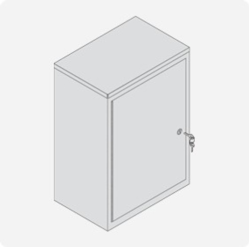 Double Door Cylinder Lock Cabinet - Extra Large