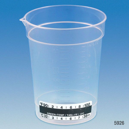 190 cc specimen collection cups with thermometer