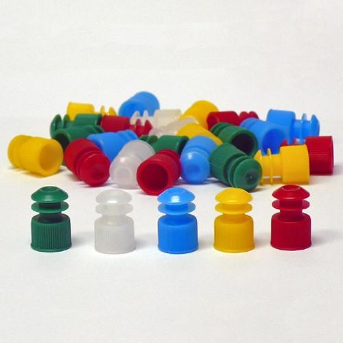 Universal Flanged Test Tube Plug Caps - 12mm