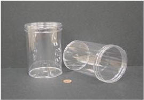 Globe Scientific Polystyrene Storage Jar, 600mL, 89mm Opening