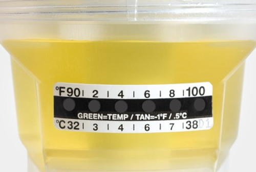 Globe Scientific Drug Testing and Specimen Container Thermometer Strips