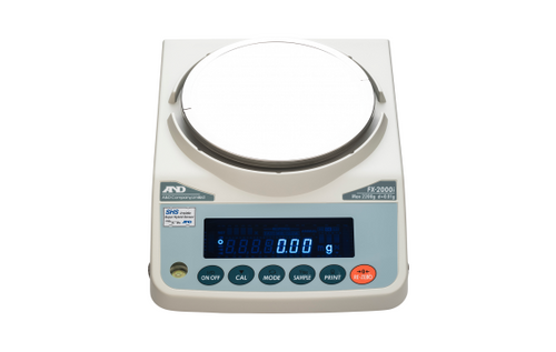 A&D Weighing FX-1200iN Precision Balance, 1200 g x 0.01 g, NTEP