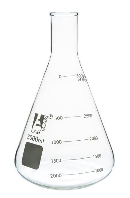 3000ml erlenmeyer flask