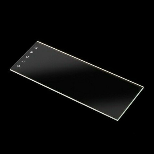 Globe Scientific Microscope Slides 90° Ground Edges with Safety Corners, Frosted Glass - 25 x 75 mm