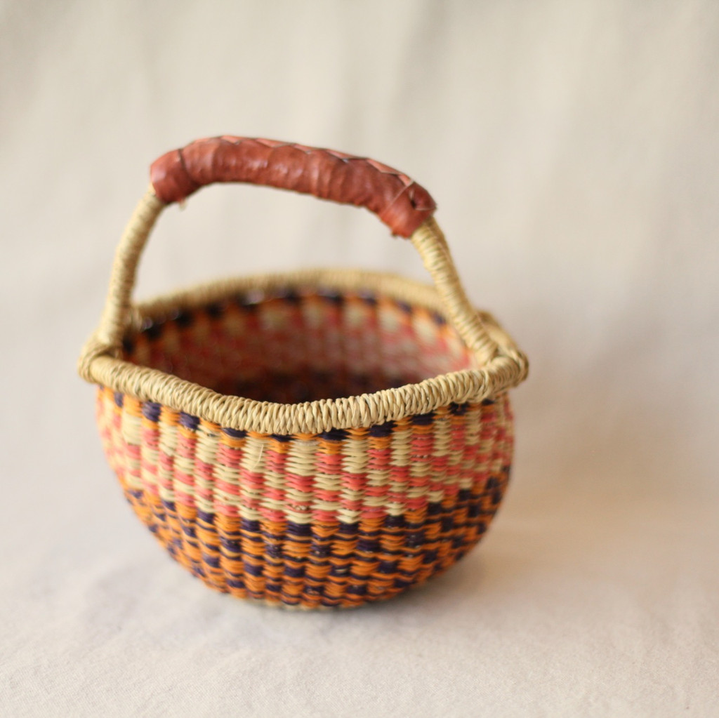 Midland : West African Bolga Basket - Colorful