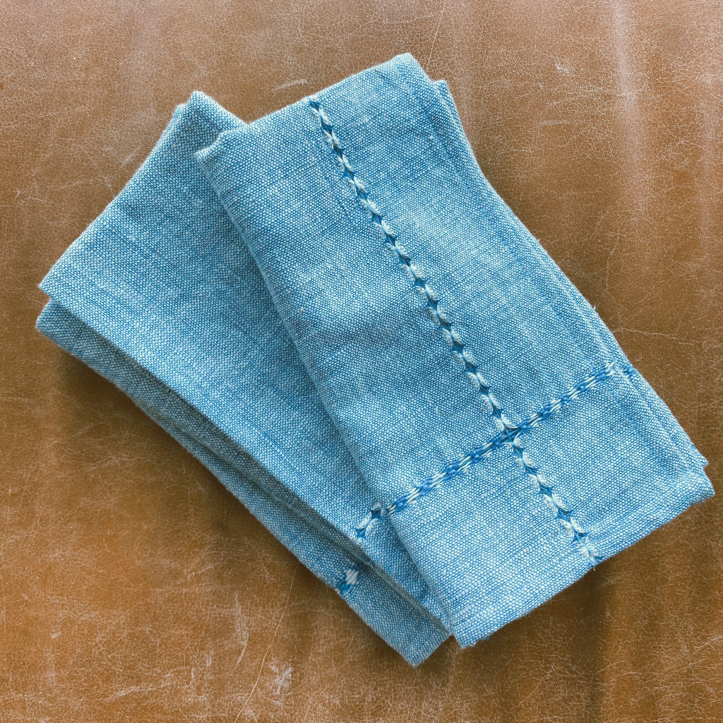 Creative Women : Pulled Cotton Napkin - Blue