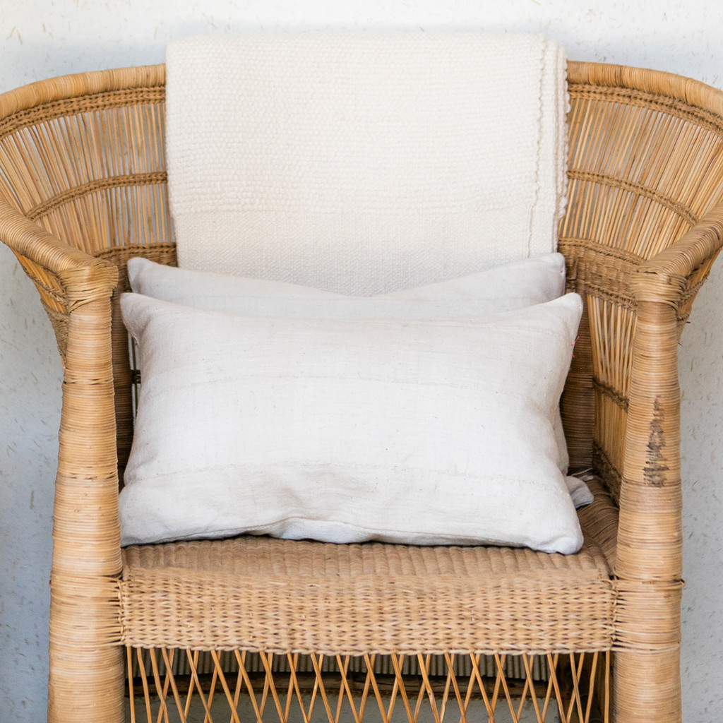 Indego Africa : Cream Mudcloth Pillow