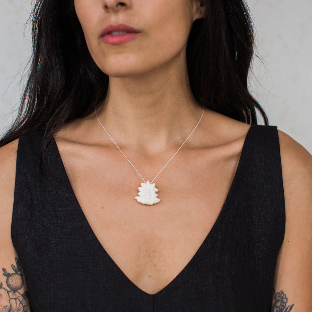 Christopher Miller : Cloudy Day Necklace in Bone