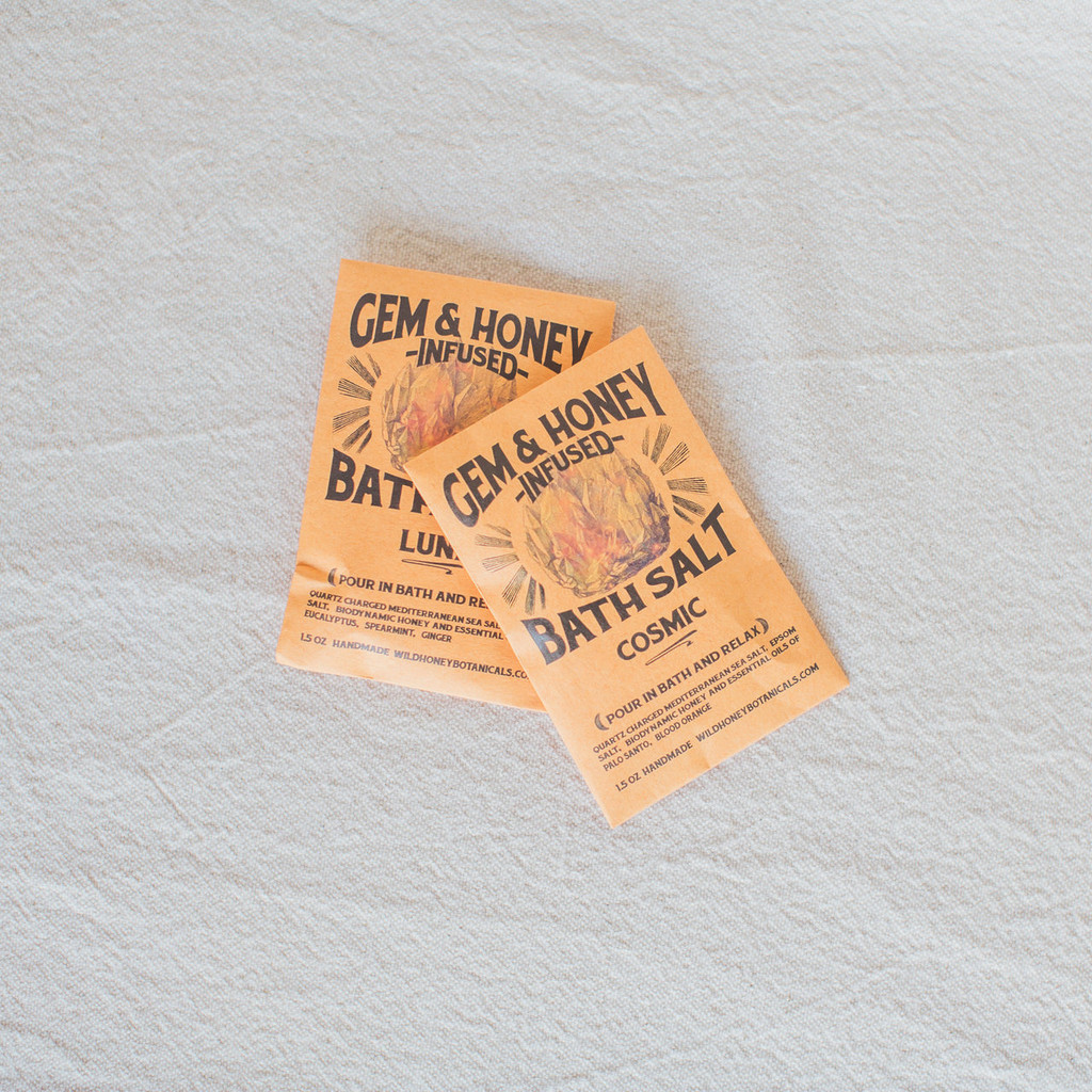 Wild Honey Botanicals : Gem & Honey Infused Bath Soak