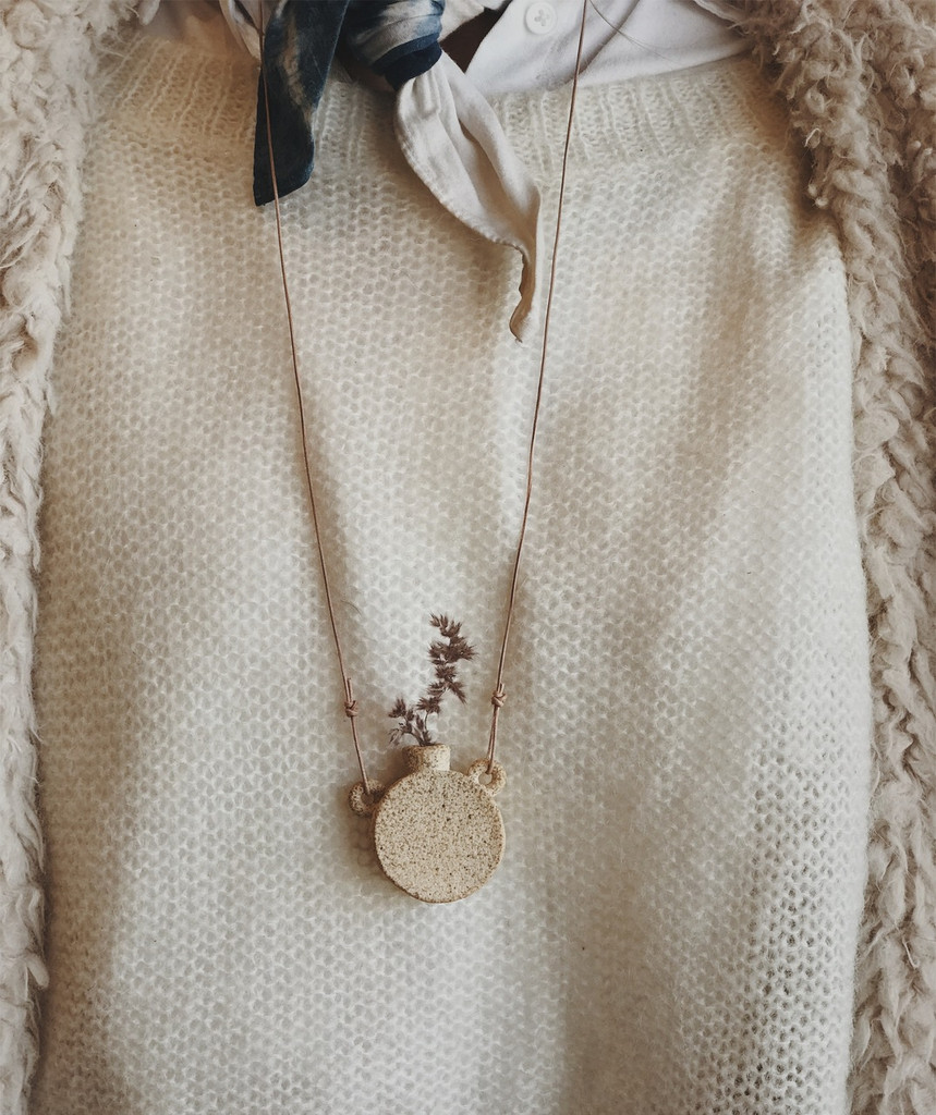Sara Winkle : Stoneware Canteen Necklace