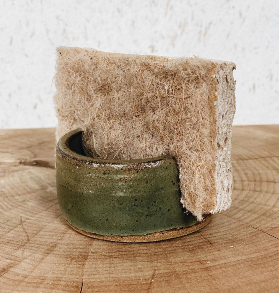 Lucy Michel : Sponge Holder in Green