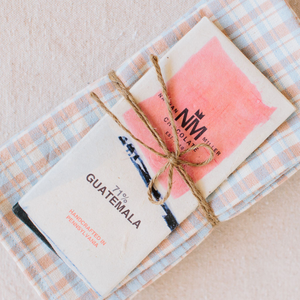Heather Taylor Home : French Plaid Napkins in Sky