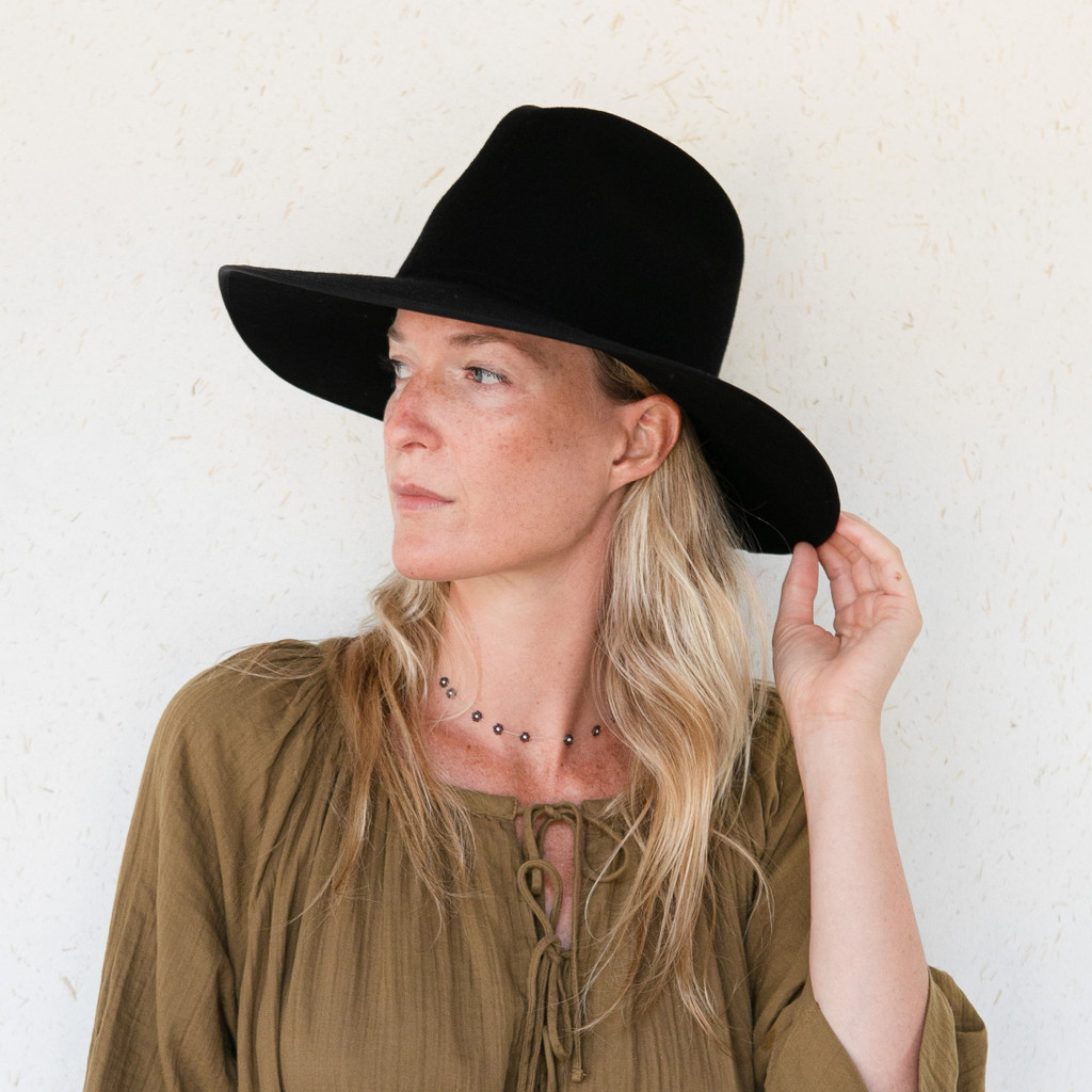 Brookes Boswell : Savoy Hat in Black Felt