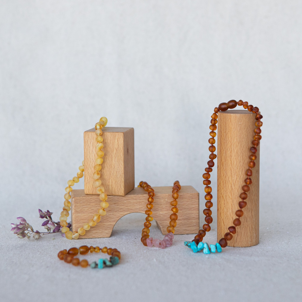 Canyon Leaf : Amber Baby Jewelry