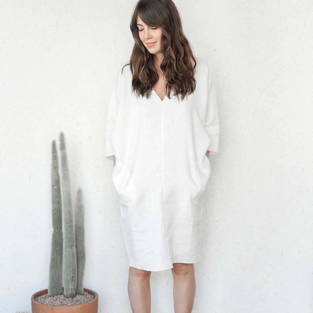 Rachel Craven : Gwathmey Dress in Pearl White