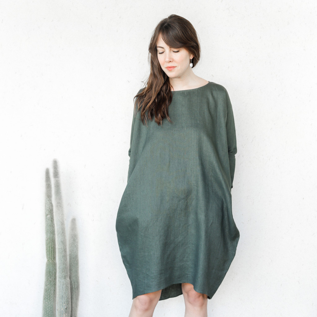 Rachel Craven : Edie Dress in Midland Green