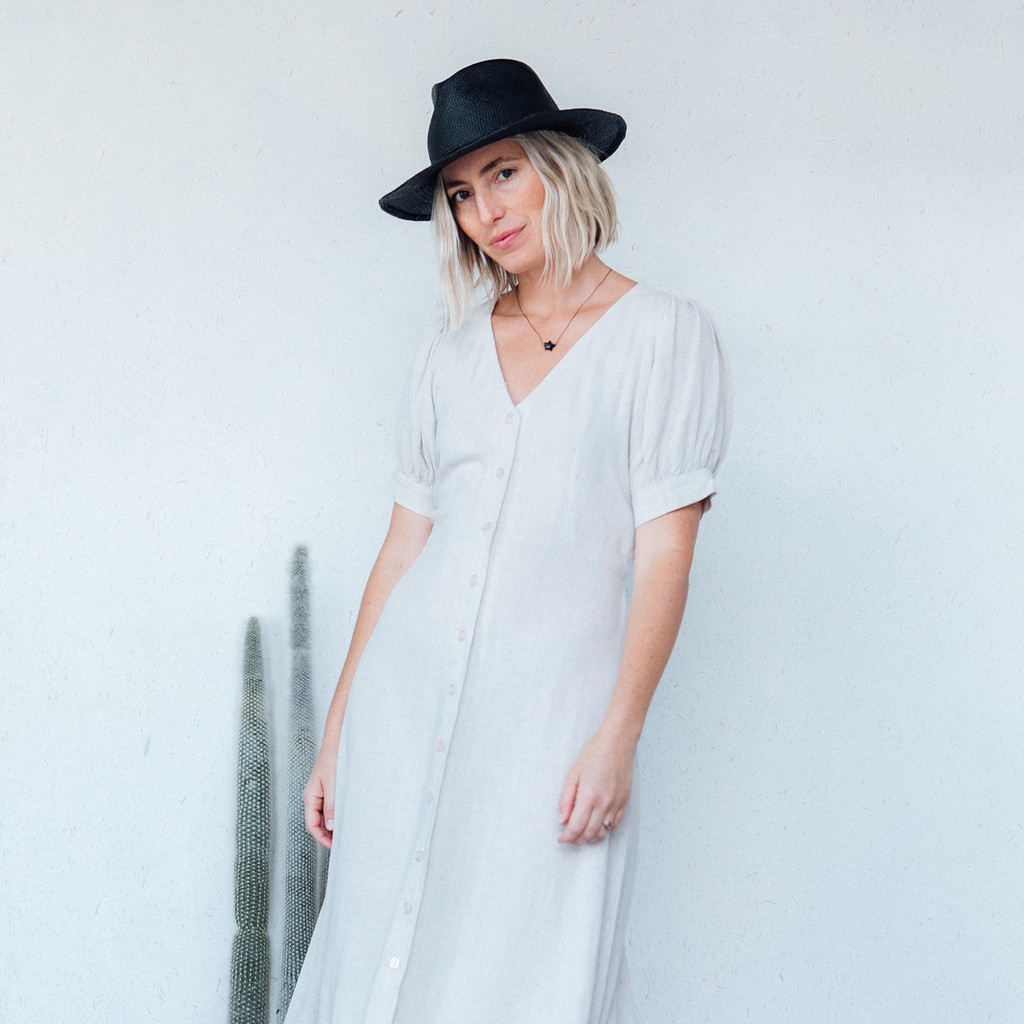 Rachel Pally : Linen Piper Dress in Natural