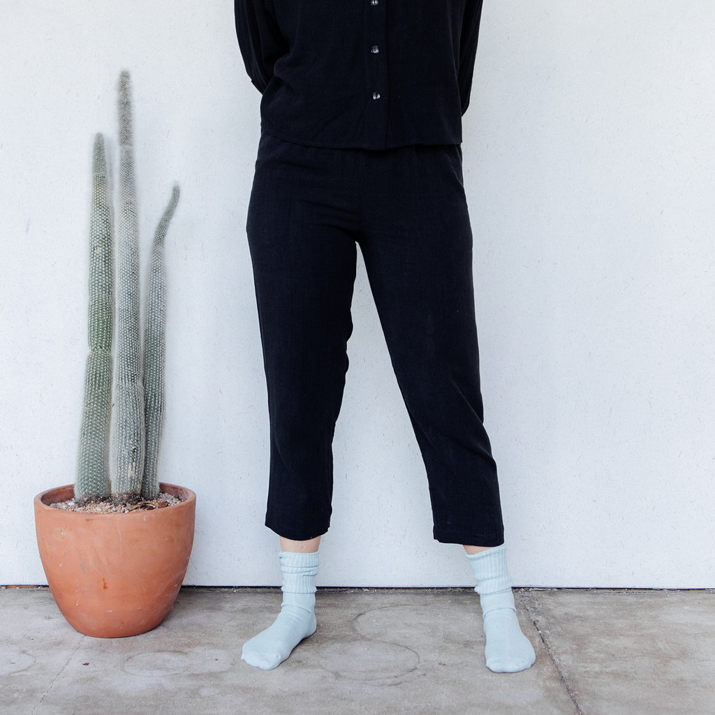Rachel Pally : Linen Reese Pant in Black