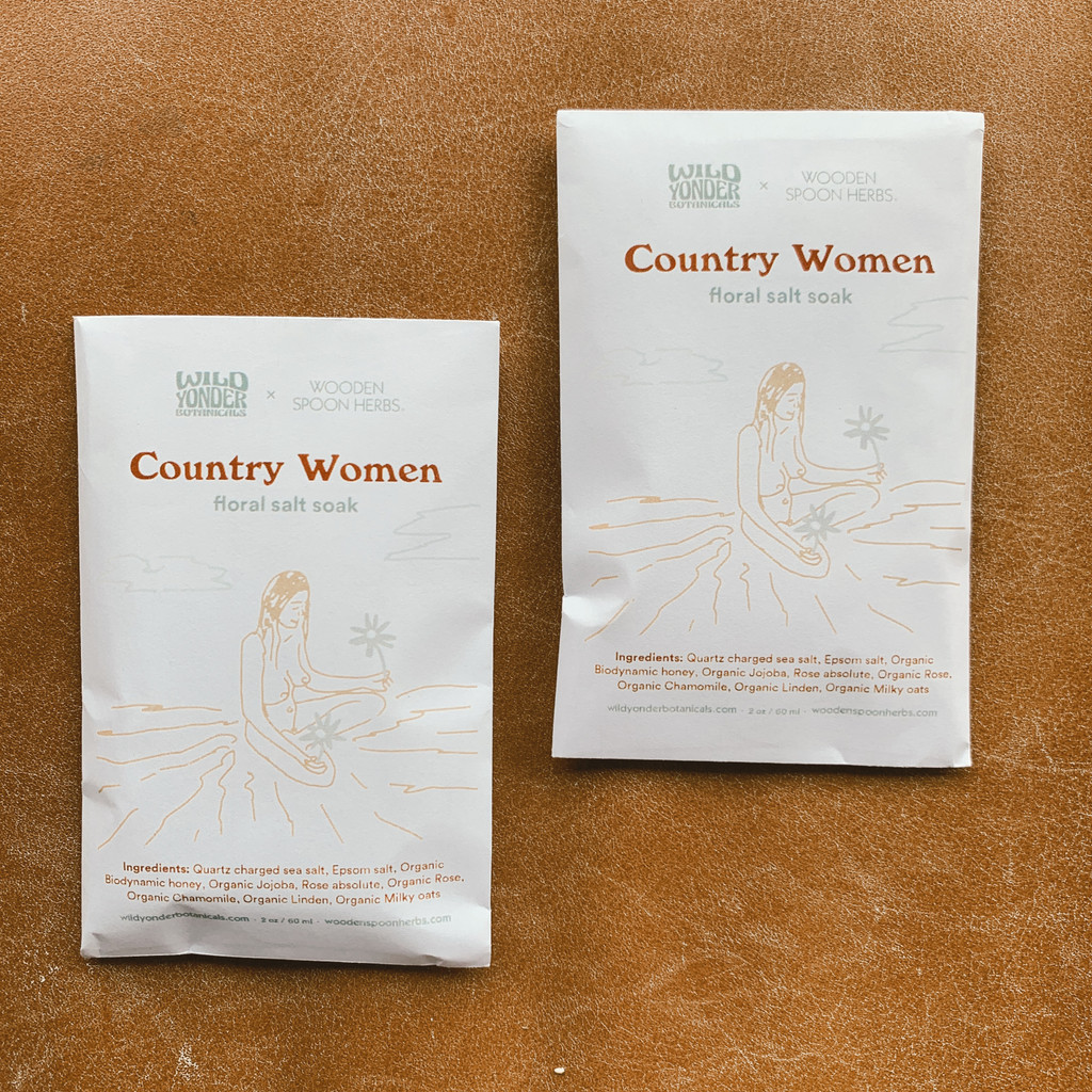Wild Yonder Botanicals : Country Women Floral Salt Soak