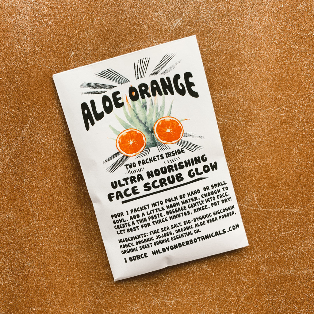 Wild Yonder Botanicals : Aloe Orange Face Scrub Glow