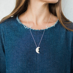 Christopher Miller : Face Crescent Moon Necklace