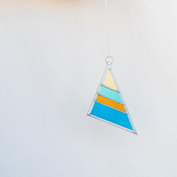 Debbie Bean : Small Stained Glass Triangle