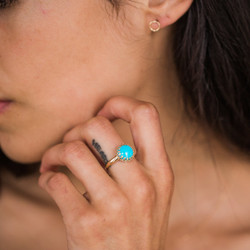 Maya Brenner : Turquoise Lattice Ring