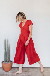 Sugar Candy Mountain : The Angela Jumpsuit in Red