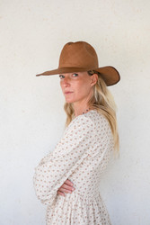 Brookes Boswell : Savoy Panama Straw Hat in Dark Brown